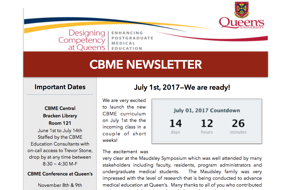 CBME Newsletter June 2017