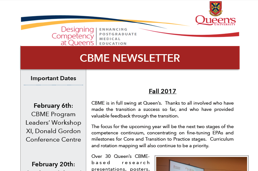 CBME Newsletter Nov 2017