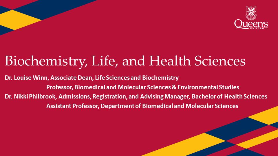 Video Title: Life Sciences, Biochemistry, and Health Sciences Presentation