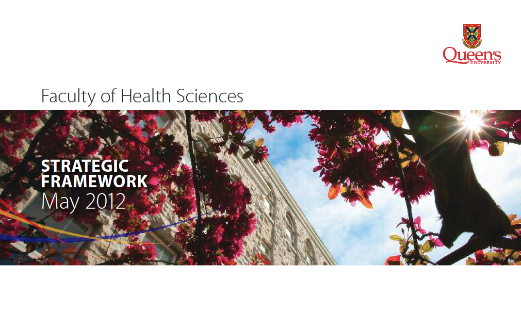 Faculty of Health Sciences - Strategic Framework 2012-2016