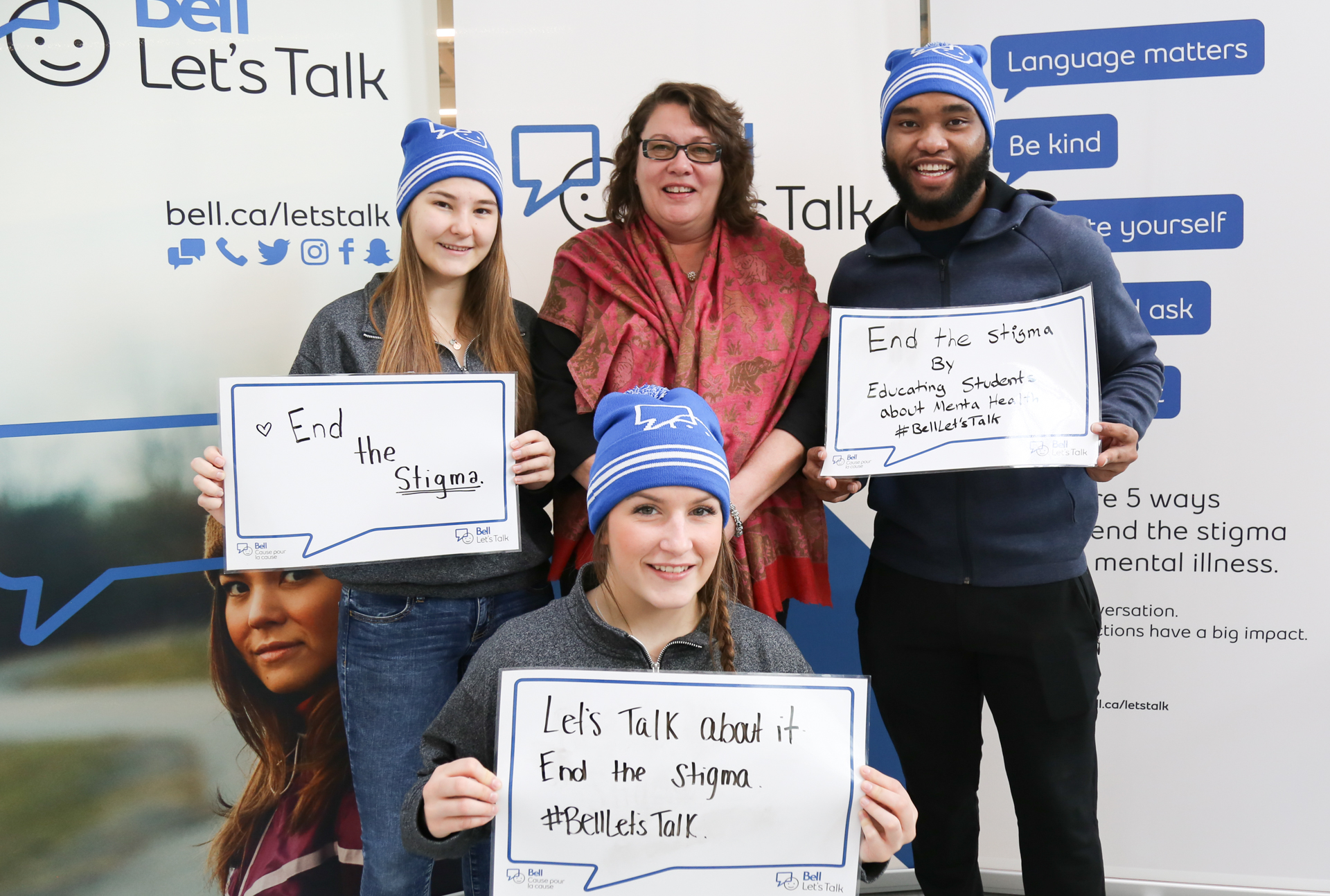 Bell Let's Talk event at Queen's University