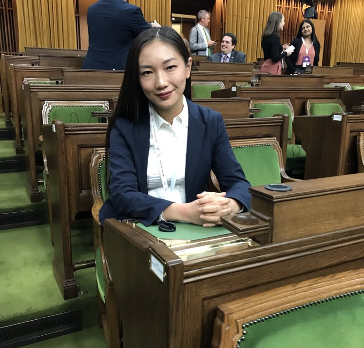 A medical student has her voice heard on Parliament Hill