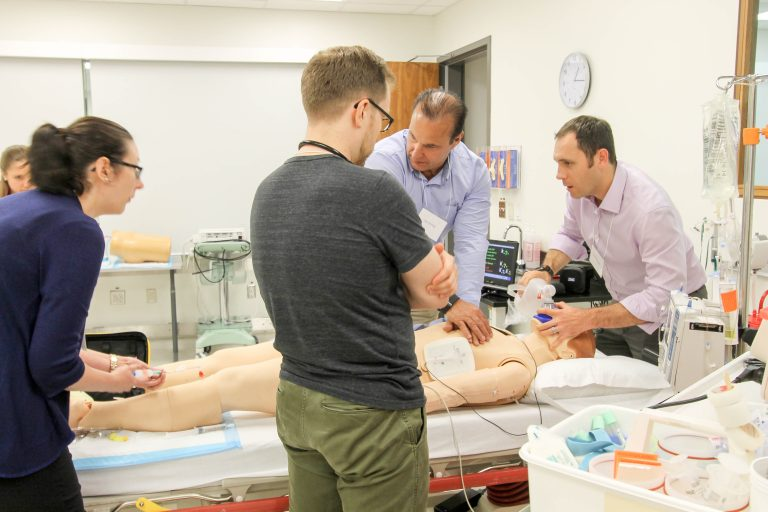 Front-line faculty undergo simulation training in preparation for the new CBME curriculum
