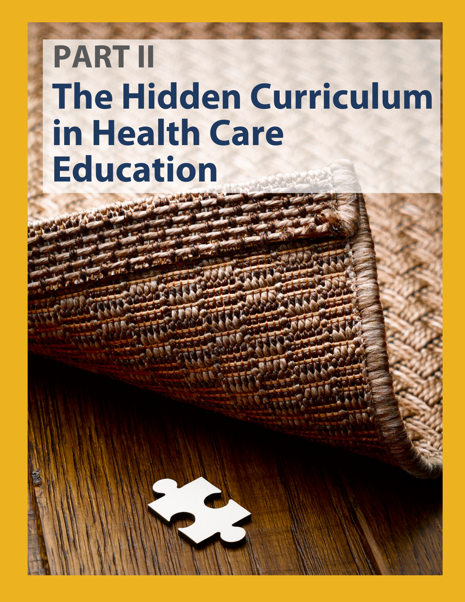 Link to a PDF  - Part 2: The Hidden Curriculum in Health Care Education
