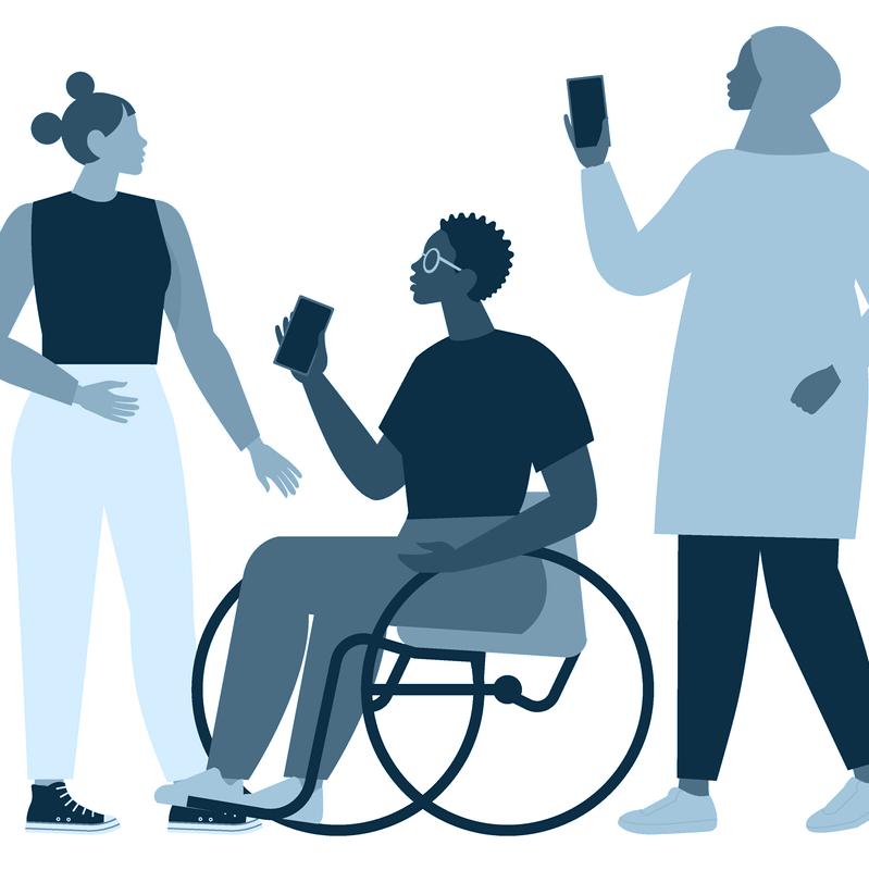 Illustration of 3 people