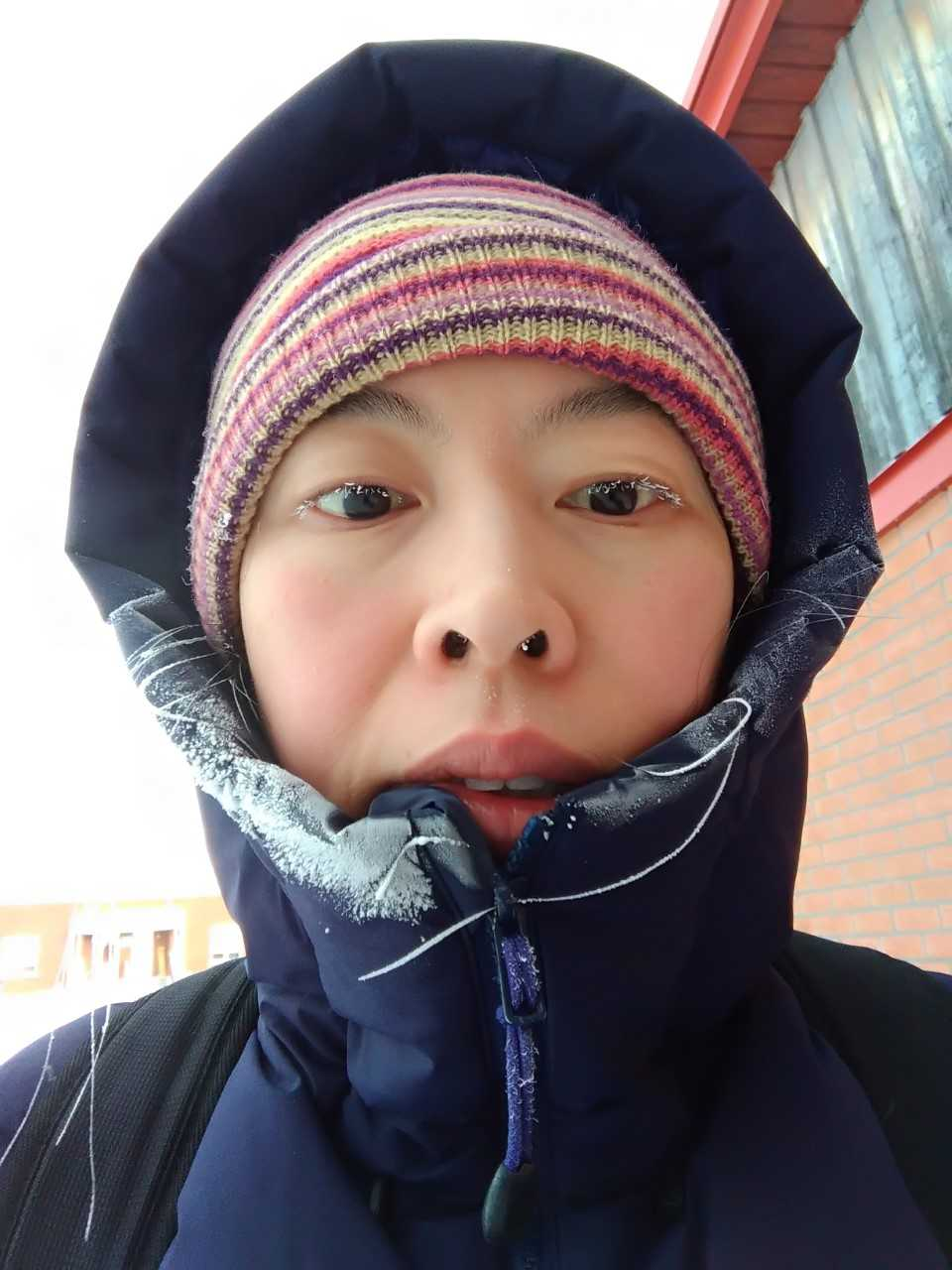 Jung in the north with frozen eyelashes
