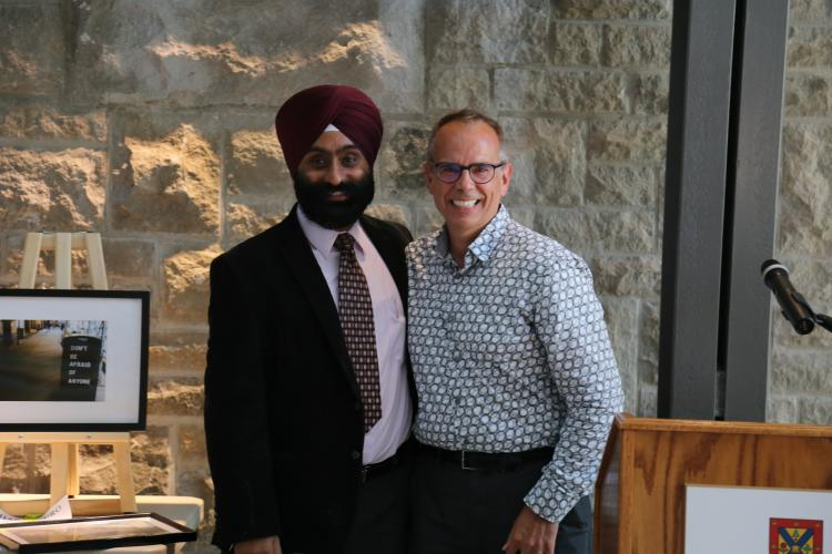 Dr. Robert Connelly with Dr. Jagdeep Walia