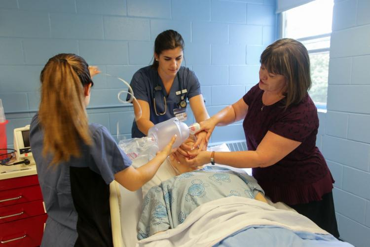 Dr. Marian Luctkar-Flude teaching nursing students