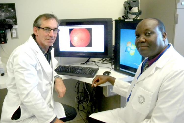 Ugandan ophthalmologist trains with Hotel Dieu eye specialists