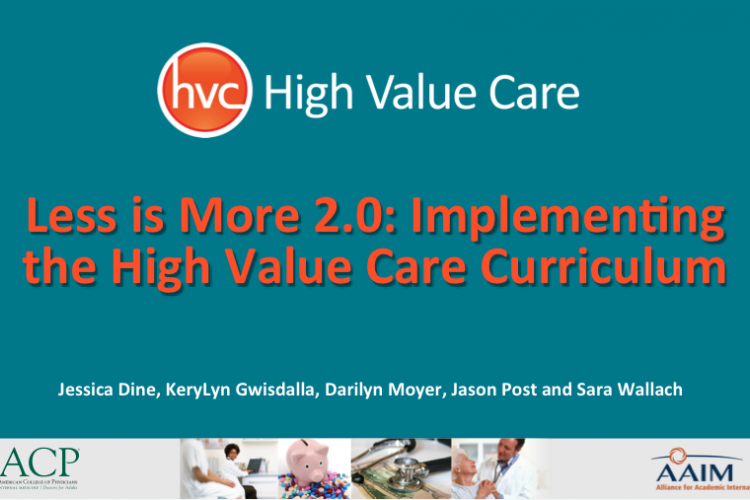 High-Value Care: An essential concept in residency education