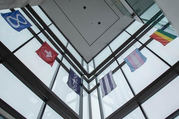 Indigenous and LGBTQIA2S+ flags raised in School of Medicine building