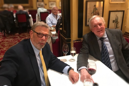 Richard and Professor Derek Alderson, President of the Royal College of Surgeons of England